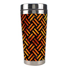Woven2 Black Marble & Fire Stainless Steel Travel Tumblers