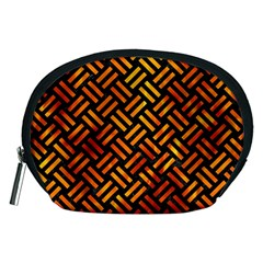 Woven2 Black Marble & Fire Accessory Pouches (medium)