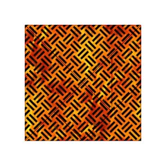 Woven2 Black Marble & Fire (r) Acrylic Tangram Puzzle (4  X 4 )