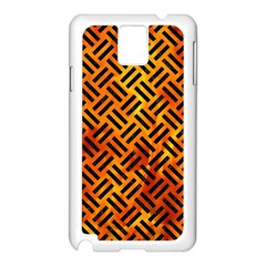 Woven2 Black Marble & Fire (r) Samsung Galaxy Note 3 N9005 Case (white)