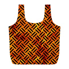 Woven2 Black Marble & Fire (r) Full Print Recycle Bags (l)