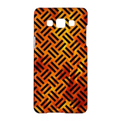 Woven2 Black Marble & Fire (r) Samsung Galaxy A5 Hardshell Case