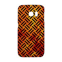 Woven2 Black Marble & Fire (r) Galaxy S6 Edge