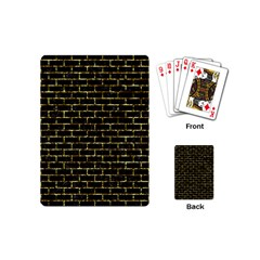 Brick1 Black Marble & Gold Foil Playing Cards (mini)