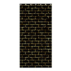 Brick1 Black Marble & Gold Foil Shower Curtain 36  X 72  (stall)