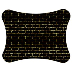 Brick1 Black Marble & Gold Foil Jigsaw Puzzle Photo Stand (bow)