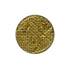 Brick1 Black Marble & Gold Foil (r) Hat Clip Ball Marker