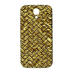 Brick2 Black Marble & Gold Foil (r) Samsung Galaxy S4 I9500/i9505  Hardshell Back Case