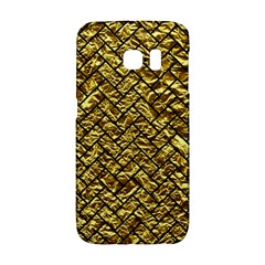 Brick2 Black Marble & Gold Foil (r) Galaxy S6 Edge