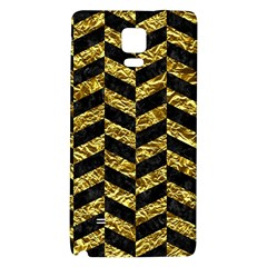 Chevron1 Black Marble & Gold Foil Galaxy Note 4 Back Case