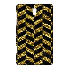 Chevron1 Black Marble & Gold Foil Samsung Galaxy Tab S (8 4 ) Hardshell Case