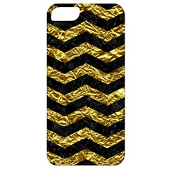 Chevron3 Black Marble & Gold Foil Apple Iphone 5 Classic Hardshell Case
