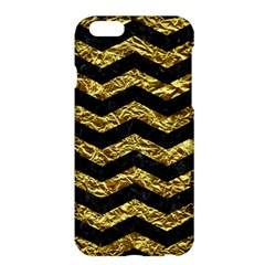 Chevron3 Black Marble & Gold Foil Apple Iphone 6 Plus/6s Plus Hardshell Case