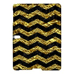 Chevron3 Black Marble & Gold Foil Samsung Galaxy Tab S (10 5 ) Hardshell Case
