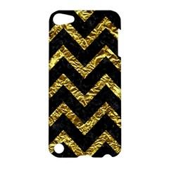 Chevron9 Black Marble & Gold Foil Apple Ipod Touch 5 Hardshell Case