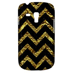 Chevron9 Black Marble & Gold Foil Galaxy S3 Mini