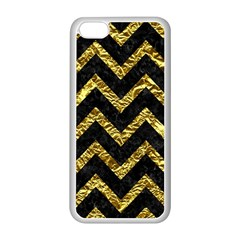 Chevron9 Black Marble & Gold Foil Apple Iphone 5c Seamless Case (white)