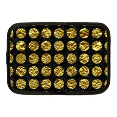 Circles1 Black Marble & Gold Foil Netbook Case (medium)