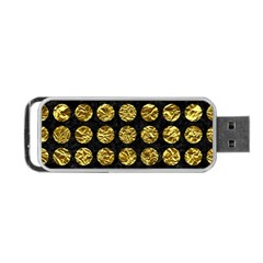 Circles1 Black Marble & Gold Foil Portable Usb Flash (one Side)