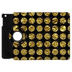 Circles1 Black Marble & Gold Foil Apple Ipad Mini Flip 360 Case