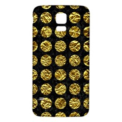 Circles1 Black Marble & Gold Foil Samsung Galaxy S5 Back Case (white)