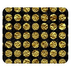Circles1 Black Marble & Gold Foil Double Sided Flano Blanket (small)