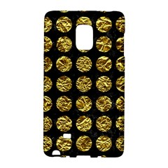 Circles1 Black Marble & Gold Foil Galaxy Note Edge