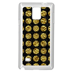 Circles1 Black Marble & Gold Foil Samsung Galaxy Note 4 Case (white)