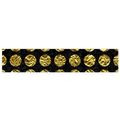 Circles1 Black Marble & Gold Foil Flano Scarf (small)