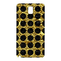 Circles1 Black Marble & Gold Foil (r) Samsung Galaxy Note 3 N9005 Hardshell Back Case