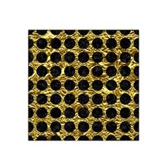 Circles1 Black Marble & Gold Foil (r) Satin Bandana Scarf