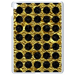 Circles1 Black Marble & Gold Foil (r) Apple Ipad Pro 9 7   White Seamless Case