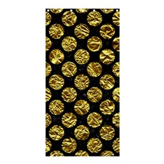 Circles2 Black Marble & Gold Foil Shower Curtain 36  X 72  (stall)