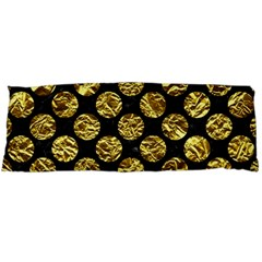 Circles2 Black Marble & Gold Foil Body Pillow Case (dakimakura)