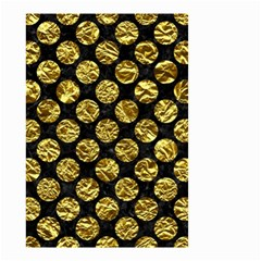 Circles2 Black Marble & Gold Foil Small Garden Flag (two Sides)