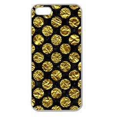 Circles2 Black Marble & Gold Foil Apple Seamless Iphone 5 Case (clear)