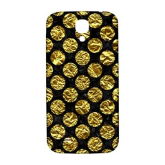 Circles2 Black Marble & Gold Foil Samsung Galaxy S4 I9500/i9505  Hardshell Back Case