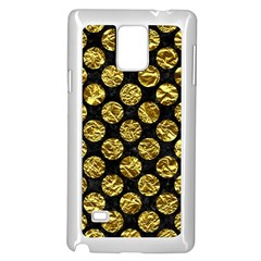 Circles2 Black Marble & Gold Foil Samsung Galaxy Note 4 Case (white)