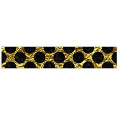 Circles2 Black Marble & Gold Foil (r) Flano Scarf (large)