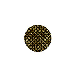 Circles3 Black Marble & Gold Foil 1  Mini Magnets