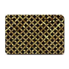 Circles3 Black Marble & Gold Foil Small Doormat