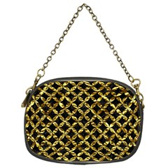 Circles3 Black Marble & Gold Foil Chain Purses (one Side)