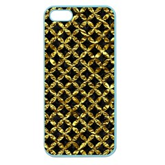 Circles3 Black Marble & Gold Foil Apple Seamless Iphone 5 Case (color)