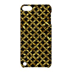 Circles3 Black Marble & Gold Foil Apple Ipod Touch 5 Hardshell Case With Stand