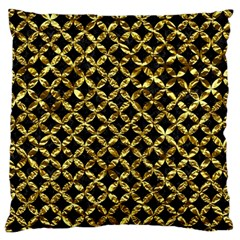 Circles3 Black Marble & Gold Foil Standard Flano Cushion Case (one Side)