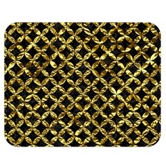 Circles3 Black Marble & Gold Foil Double Sided Flano Blanket (medium)