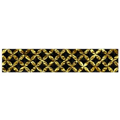 Circles3 Black Marble & Gold Foil Flano Scarf (small)