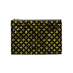 Circles3 Black Marble & Gold Foil (r) Cosmetic Bag (medium)