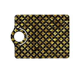 Circles3 Black Marble & Gold Foil (r) Kindle Fire Hd (2013) Flip 360 Case