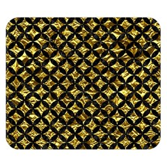 Circles3 Black Marble & Gold Foil (r) Double Sided Flano Blanket (small)